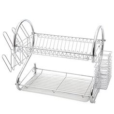 Dish Rack - Two Tier Dish Drying Rack - High Grade Stainless Steel Drying Rack 1 Year Rust Proof Manufacturers Gurantee Juvale http://www.amazon.com/dp/B014UAX93A/ref=cm_sw_r_pi_dp_xrEIwb1M4GCVF