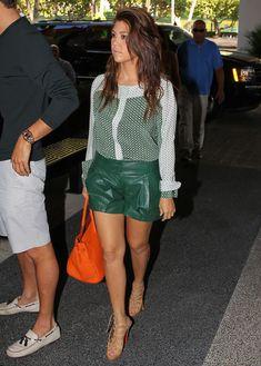 Kourtney Kardashian Photo - green shorts .. OH yaaa