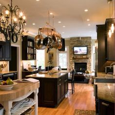 LOVE this kitchen and living room