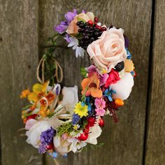 Wreath Folk ... when love blooms flower head by MagaelaAccessories