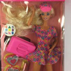 Mattel Caboodles Barbie 1992 with Glitter Beach Makeup #3157 New #Mattel #Dolls