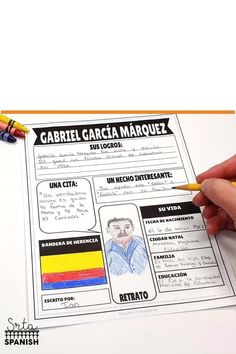 Looking for activities for Hispanic Heritage Month for Spanish class? This printable research poster is the perfect activity for your students! Read facts about history, events, and people from several countries, then present the infographic and share with the class! This can easily be turned into a bulletin board when you display student work! Great in your middle or high school Spanish classes, and much more than just a worksheet! Teach your students to celebrate diversity! Click to… Spanish Lesson Plans, Spanish Lessons, Spanish Classroom, Teaching Spanish, 123 Spanish, Online Spanish Classes, Research Poster, Report Card Comments, Spanish Heritage