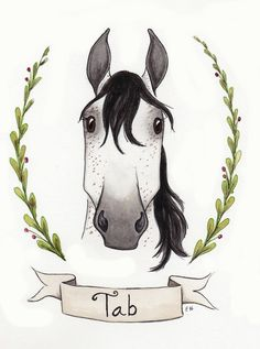 Original Watercolor Horse Illustration by ThePaperWoodland on Etsy