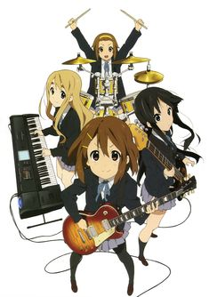 Comedy, Music, School, Slice of Life. Daily lives of high school students who join together as a band in the Light Music Club. Slice Of Life, Yui Hirasawa, K On Yui, K On Anime, Free Anime, Anime Girls, Pokemon, Anime Watch, Kyoto Animation