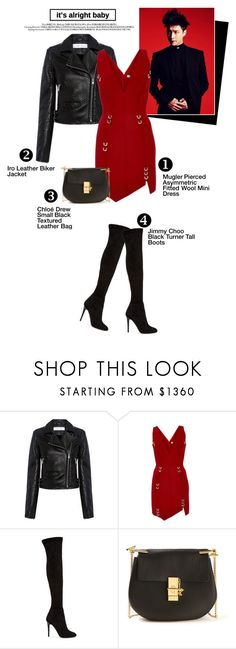 """Sin título #214"" by yuleici ❤ liked on Polyvore featuring IRO, Thierry Mugler, Jimmy Choo and Chloé"