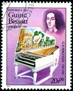 Guinée Bissau, Pergolese, Timbre postal, 1985.