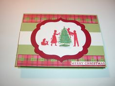 Handmade Family Decorating Tree Christmas Cards Set by stampinme, $8.99