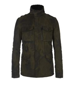 i mean if you are going to do camo...ROULETTE M65 Jacket, Men, Coats, AllSaints