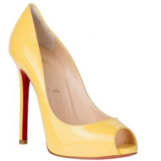 Christian Louboutin Flo 120 Patent Pump ($845) ❤ liked on Polyvore