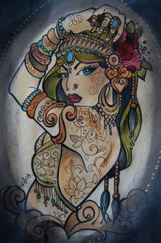 Dawnii Fantana Tattoo Flash   KYSA #ink #design #tattoo