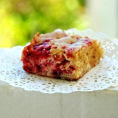 What do browned butter, raspberry, white chocolate and the best blondies have in common? These bars!