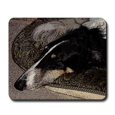 The Borzoi Shop: Sleeping Borzoi Mousepad: Bring a Borzoi into the office with our unique borzoi mouse pad. Mousepad, Sleep, My Favorite Things, Dogs, Gifts, Presents, Doggies, Favors, Pet Dogs