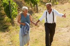 Claire and Lorenzo from Letters to Juliet. Hooray for Old People Love! <3