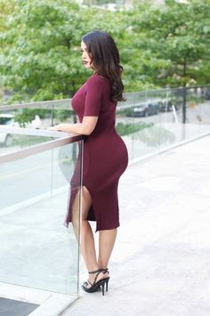 gumboot glam blogger oxblood burgundy dress curvy bodycon dress slit dress plus size dress