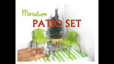 Easy DIY Patio Set Dollhouse Miniature Furniture