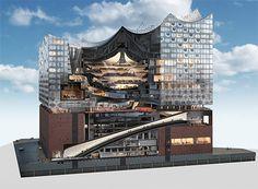 Filarmónica de Hamburgo o Filarmónica del Elba (Elbphilharmonie Hamburg)