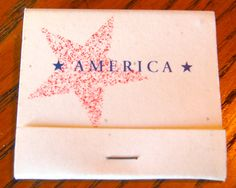 America - #matchbook - To order your business' own branded #matchboxes and #matchbooks, go to www.GetMatches.com or call 800.605.7331 today!