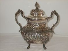 Vintage French silver plated sugar pot/bowl by FrenchlyMoments, $34.00