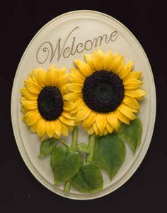 Sunflower Welcome Plaque