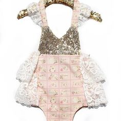 Marie Antoinette's Tea Party is our newest @bellethreads exclusive #sparkleromper made with Parisian fabrics from my last France trip. ✨✨ Check out bellethreads.com for more sparkle rompers for your babe's special day!  There are a few that are ready to ship! #bellethreadspinterest
