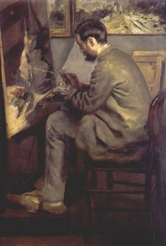Pierre-Auguste Renoir,Frederic Bazille Painting the Heron