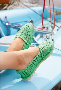 Crocheted Espadrilles Slippers Free Pattern for summer and Beach Shoes