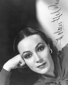 Dolores del Rio, born María de los Dolores Asúnsolo López-Negrete (Aug 3, 1905 in Durango, Mexico – April 11, 1983 in Newport Beach, California): Mexican film actress, Hollywood star in the 1920s and 1930s, and one of the Most Important Female Figures of the Golden Age of Mexican Cinema (1940s and 1950s). First Latin American female star recognized internationally.  wikipedia ~Via Tania Bravo