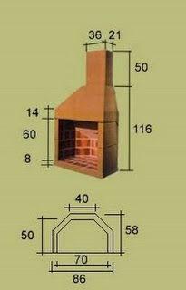 Estufas Chimeneas y Barbacoas: Medidas estufas de chapa Outside Fireplace, Build A Fireplace, Backyard Fireplace, Backyard Bar, Wood Fireplace, Fireplace Dimensions, Brick Oven Outdoor, Barbecue Design, Outdoor Fireplace Designs