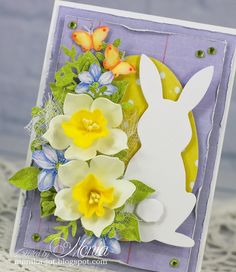Paper Flower Tutorial, Handmade Flowers, Cute Cards, Paper Flowers, Easter, Table Decorations, Spring, Tutorials, Decorating Ideas