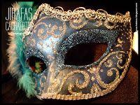 Antifaces estilo Regina ~ mascaras venecianas