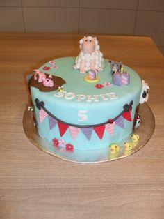Meisjes boerderij taart/ girly farm cake