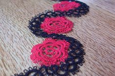 red rose and vine tatted bracelet red rose bracelet by MamaTats, $18.00
