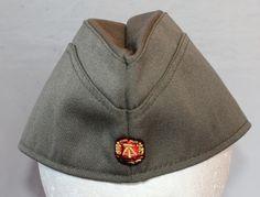 Vintage East Germany Military Garrison Hat, 1980's Era by ilovevintagestuff on Etsy