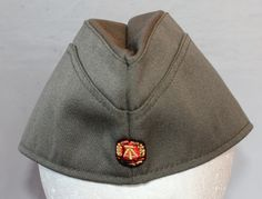 Vintage East Germany Military Garrison Hat, 1980's Era by ilovevintagestuff on Etsy