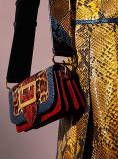 A collision of colour, texture and pattern. At the Burberry February 2016 show, The Patchwork, the new unique runway bag, is worn with glossy leather coats in vibrant hues Burberry Handbags, Prada Handbags, Women's Crossbody Purse, Satchel, Patchwork Bags, Leather Bags Handmade, Chain Shoulder Bag, Luxury Bags, Couture