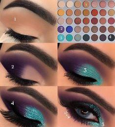 Gorgeous Makeup: Tips and Tricks With Eye Makeup and Eyeshadow – Makeup Design Ideas Eye Makeup Steps, Makeup Eye Looks, Skin Makeup, Eyeshadow Makeup, Teal Eyeshadow, Makeup Brushes, Makeup Remover, Easy Eye Makeup, Glitter Eyeshadow Tutorial