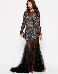 540a446208 Forever Unique Diamond Embellished Maxi Dress. Maxi NegroAsosCruceroEstrás Vestido Formal