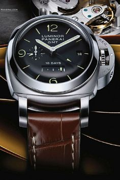 Panerai Luminor - Definitely the most beautiful watch on the market today, simple, elegant, stylish. Quality watches from around the wold at fantastic prices Dream Watches, Fine Watches, Luxury Watches, Cool Watches, Watches For Men, Men's Watches, Fashion Watches, Most Beautiful Watches, Panerai Watches