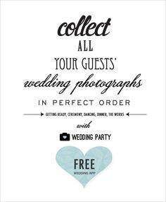 Guest wedding photo app...