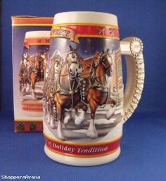 1999 Budweiser Holiday Stein