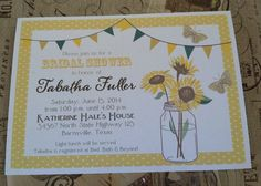 Printed Mason Jar Bunting and Sunflowers Bridal by ourdesigner, $16.50