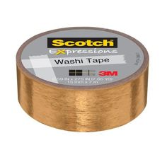 Scotch Washi Tape x Copper Duct Tape at Lowe's. Scotch® Expressions Washi Tape comes in a variety of colors so you can decorate and personalize your projects. Add a unique touch to home decor or a Copper Foil Tape, Gold Foil, Copper Tape Wall, Gold Tape, Copper Wallpaper, Gris Rose, Decorative Tape, Tape Crafts, Desk Accessories