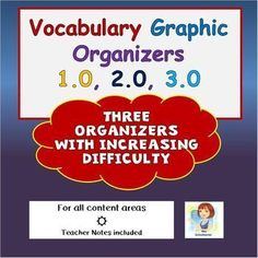These visually interesting and engaging graphic organizers teach students new vocabulary with ease! Students are asked to use a combination of cognitive thinking skills as well as creative skills to assist them in committing new vocabulary to their long Vocabulary Builder, Teaching Vocabulary, Vocabulary Activities, Vocabulary Words, Teaching Tips, Vocabulary Graphic Organizer, Graphic Organizers, School Levels, Cooperative Learning