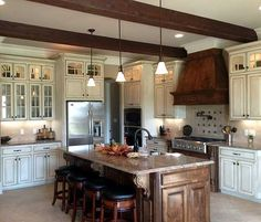 Architectural Designs Acadian House Plan 56309SM - great kitchen.