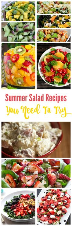 I am so excited for summer, which also means I am excited for Summer Recipes! You can't beat some great salad recipes and I have some FANTASTIC Summer Salad Recipes that you need to try this Summer!