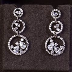 Zircon Earring JHZ-244 USD42.24, Click photo to know how to buy / Contact me for discount, follow board for more inspiration