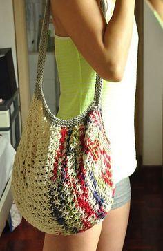 Knitted Market Bag Pattern : Tote Knitting Patterns