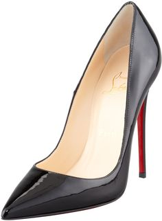 Christian Louboutin So Kate Patent Leather Point-Toe Pump, Black