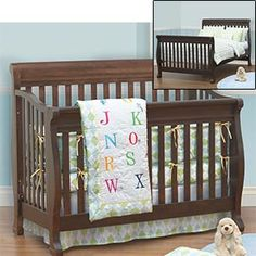 Convertible crib; dark chocolate finish