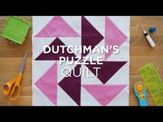 The Dutchman's Puzzle - Quilt Snips Mini Tutorial - YouTube